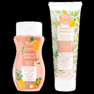 Valentines gift apricot and vanilla bundle